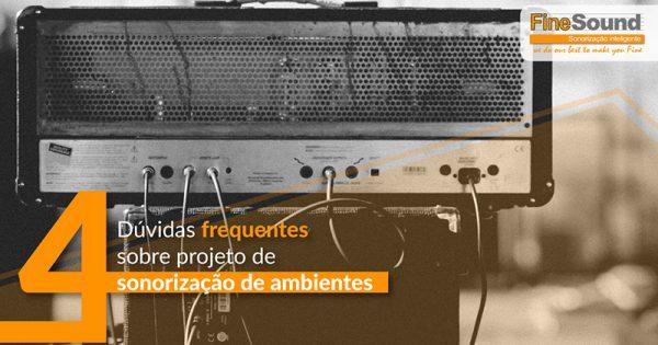 projetos de sonorização